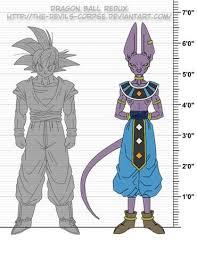 Height Chart 6 Dragon Ball Dragon Ball Z Dragon Ball Gt