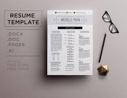 Pretty Resume Templates Elegant CV template resume template by Chic templates 64