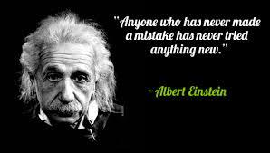 Albert Einstein Quotes Mistake. QuotesGram via Relatably.com