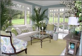 sunroom furniture. Best Of Sunroom Furniture Collections: Enchanting With White Sofa Flower Motive Chairs Y