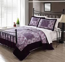 3 Piece Queen Meryl Plum Velvet Quilt Set - Walmart.com &  Adamdwight.com