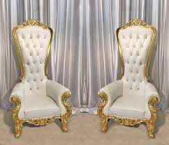 two throne chair package w gold trim