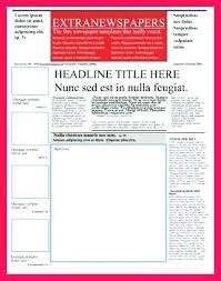 Newspaper Front Page Template Indesign Newspaper Front Page Template Srmuniv Co
