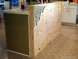 adding a breakfast bar to an existing kitchen island