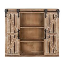 rustic wood storage cabinets.  Wood Kate And Laurel Cates Rustic Wood Wall Storage Cabinet With Sliding Barn  Doors And Cabinets O
