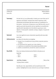 Accomplishments For A Resume Examples