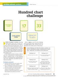 Pdf Problem Solvers Problem Hundred Chart Challenge