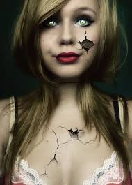 broken doll makeup i think this is really lovely as it is simple yet the