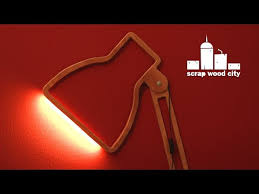 DIY <b>creative wall lamp</b> with <b>led</b> strip out of plywood - YouTube