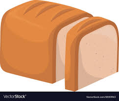 Bread White Loaf Slice Icon Graphic Royalty Free Vector