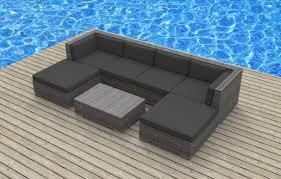 urban furnishing maui 7pc modern wicker rattan patio furniture set amazoncom patio furniture