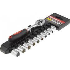 <b>Набор головок с трещоткой</b> Hammer Flex 601-055 купить в ...