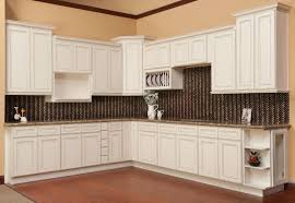Preassembled Kitchen Cabinets Good Antiqued White Cabinets On Antique White Kitchen Cabinets
