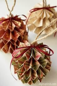 DIY Paper Christmas Ornaments DIY Inspired More