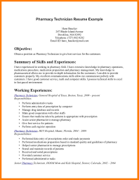 5 Pharmacy Technician Resume Synopsis Format