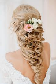 Flower Hair Style wedding halfup hairstyle with flower one1lady hair 1944 by wearticles.com