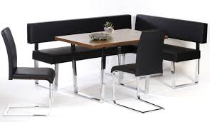 black dining room set with bench. Telsa Black Leather Resize Large Dining Room Set With Bench E