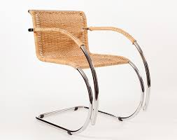 mies van der rohe cantilever chair mr20 rattan cane