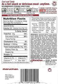 maruchan beef ramen noodles nutrition