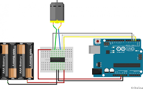 control a dc motor with arduino