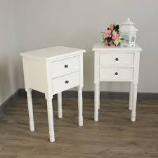 Eliza White Range - Furniture Bundle, Pair of Two Drawer Bedside Table Made  from wood