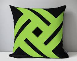 Lime Green Decorative Accessories SALE Decorative Lime Green White Pillow Cover Modern 9