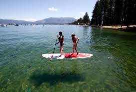Tahoe is the 16th deepest lake in the world, and the fifth deepest in average depth.it is about 22 mi (35 km) long and 12 mi (19 km) wide and has 72 mi (116 km) of shoreline and a surface area of 191 square miles (490 km 2). New Research Targets Microplastics Detected In Lake Tahoe