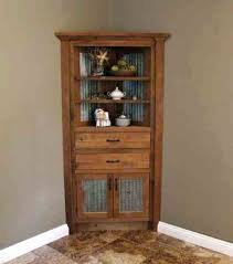 rustic china cabinet plans in farmhouse with glass doors distressed white corner rust