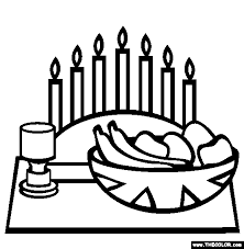 Small Picture Kwanzaa Karamu Online Coloring Page