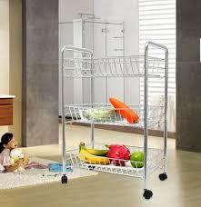 Chart Cart On Wheels 3 Tier Kitchen Rolling Trolley Cart Storage Shelf W Wheels Us Stock Fast Ship