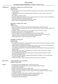 Pharmacy Assistant Resume Examples Pharmacy Assistant Resume Samples Velvet Jobs 8