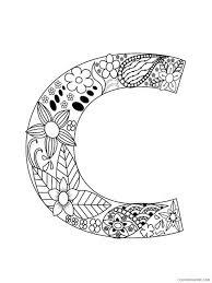 Floral alphabet letter c coloring book for adults. Letter C Coloring Pages Alphabet Educational Letter C Of 21 Printable 2020 040 Coloring4free Coloring4free Com