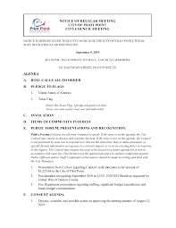NOTICE OF REGULAR MEETING CITY OF PILOT POINT CITY COUNCIL MEETING AGENDA  A. ROLL CALL/CALL TO ORDER B. PLEDGE TO FLAGS C. INVOC