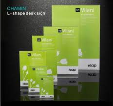 5 pack Reap Vilani Acrylic T <b>shape desk</b> sign holder <b>card display</b> ...