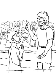 Jesus was not only a teacher but he led by example. John The Baptist Speak To Jesus Coloring Page Netart