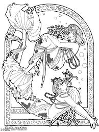 Art Nouveau Coloring Pages At Getdrawingscom Free For Personal