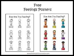 Small Picture Free Feelings Poster and Coloring Page The Helpful Counselor