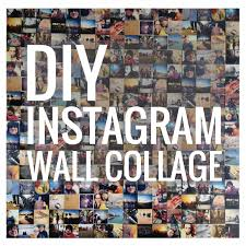 diy instagram wall collage with 12 12 photographic prints
