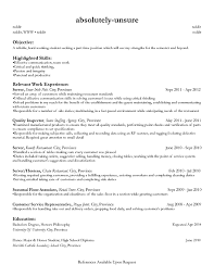 part time resume sample