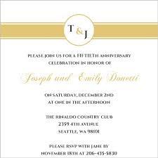 50th Anniversary Party Invitations Gold Monogram 50th Anniversary Anniversary Party Invite