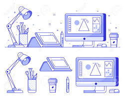 Graphic Designer Stuff Graphic Designer Stuff And Icons With Digital Illustrator Or