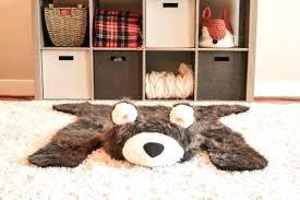 nursery bear rug bear rug faux woodland nursery baby room decor animal play mat skin pattern