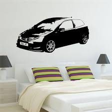 Kids Bedroom Wall Murals Fascinating Large Car Civic Type Sports Car Classic Bedroom Wall Art Sticker