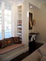 Padded Benches Living Room Interior Living Room Amazing White Custom Wooden Bay Window Seat