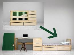 transforming furniture for small spaces. Transforming Furniture For Small Spaces Transform Baby Crib That Converts Into A Bed And Study Table L