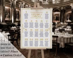 15 Table Seating Chart Printable Wedding Table Seating Chart Template Gatsby 1920s