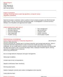 Sample Project Coordinator Resume 8 Examples In Word Pdf