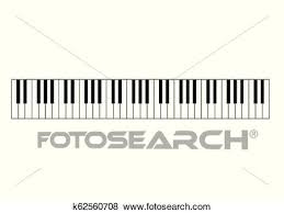 Piano Notes Chart Piano Chords Or Piano Key Notes Chart On White Background
