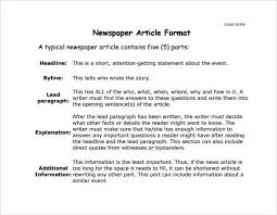 Writing A Newspaper Article Newspaper Article Format Newspaper Article Format Report