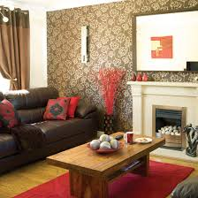 Brown Leather Couch Decorating Living Room Ideas With Extraordinary Red And  Black